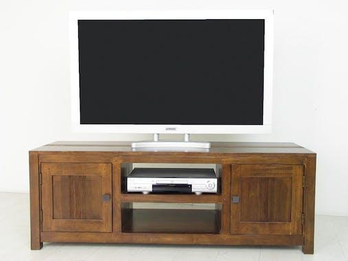 Meuble TV 2 portes hévéa 136cm GALA