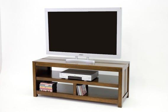 Meuble TV 3 niches hévéa 120cm GALA