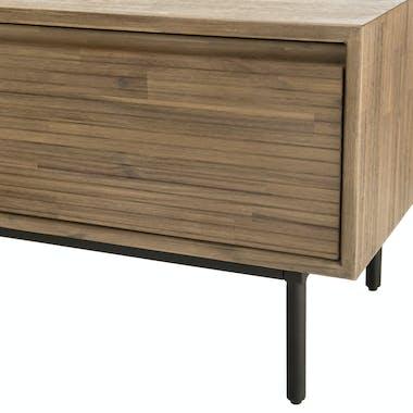 Meuble TV en bois et metal deux portes de style contemporain