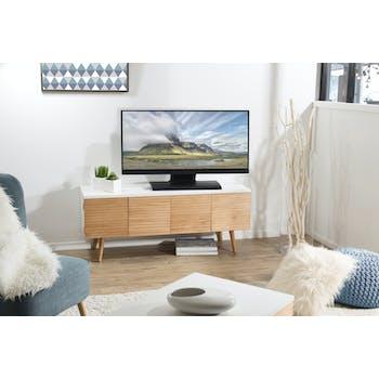 Meuble TV en bois quatre portes de style contemporains