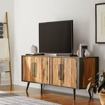 Meuble tv bois recyclé 4 portes SEATTLE