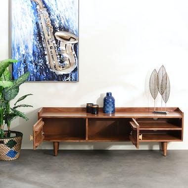 Meuble tv en bois d'acacia EDIMBOURG