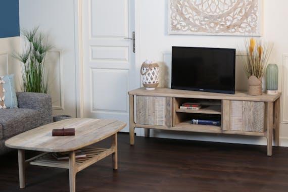 Meuble TV en bois d'acacia HAMILTON