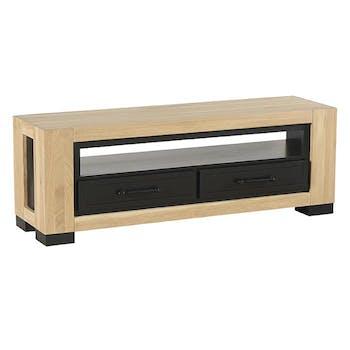 Meuble tv en chêne 2 tiroirs ATLANTA