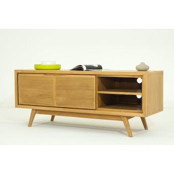 Meuble TV en bois massaif avec portes de style vintage