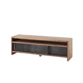 Meuble TV en bois trois portes style contemporain