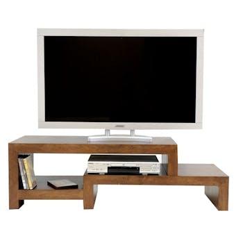Meuble TV hévéa 130cm OLGA