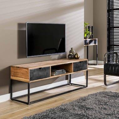 Meuble tv industriel tiroirs métal BUNBURY