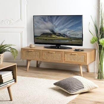 meubles tv vintage a roulettes