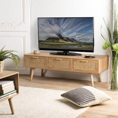 Meuble tv moderne avec cannage PALMA