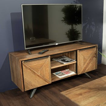 Meuble TV moderne en chêne MANHATTAN