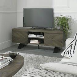 Meuble tv moderne en marqueterie de chêne ARLINGTON