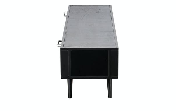 Meuble tv noir 2 tiroirs NAPLES