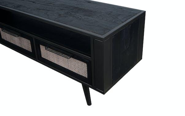 Meuble tv noir 3 tiroirs NAPLES