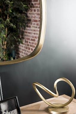 Miroir carré bords arrondis doré ZALA