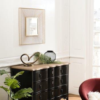Miroir carré doré BANGALORE