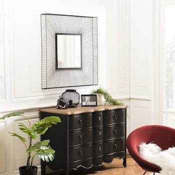 Miroir carré noir BANGALORE