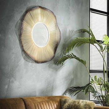 Miroir doré effet vague D80 cm TRIBECA