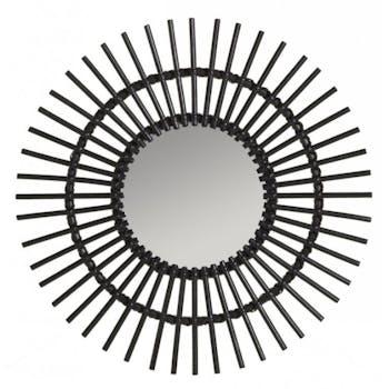 Miroir en finition Laque noir Soleil KOK