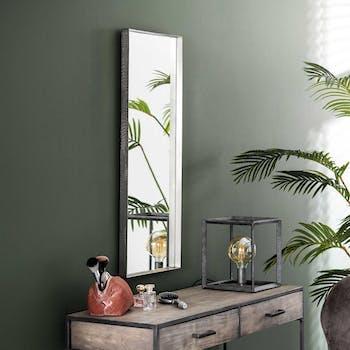 Miroir rectangulaire argent vieilli 40x100 NIAGARA