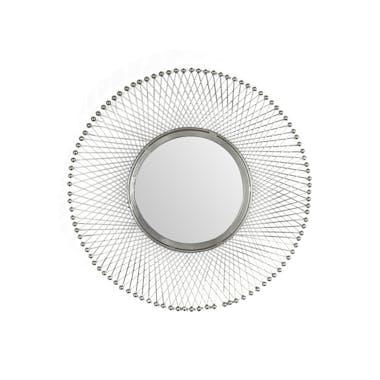 Miroir rond croisillons métal D50 cm TRIBECA
