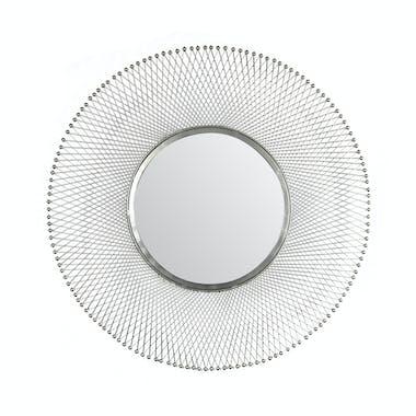 Miroir rond croisillons métal D80 cm TRIBECA