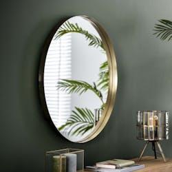 Miroir rond doré D 75 cm NIAGARA