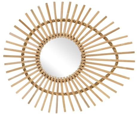 Miroir rotin forme ellipse KOK