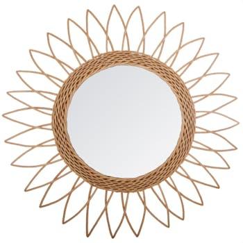 Miroir rotin soleil D50cm