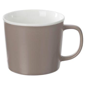 Mug en porcelaine taupe