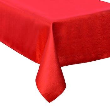 Nappe 140 x 240 rouge paillettée