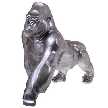 Objet déco à poser gorille argent
