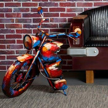Objet déco à poser moto roue avant