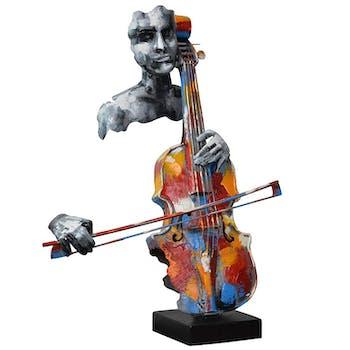 Objet déco à poser violoncelliste