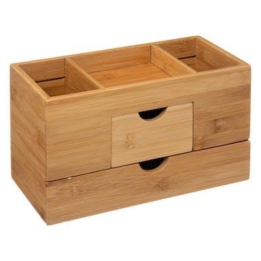 Organiseur bambou 2 tiroirs