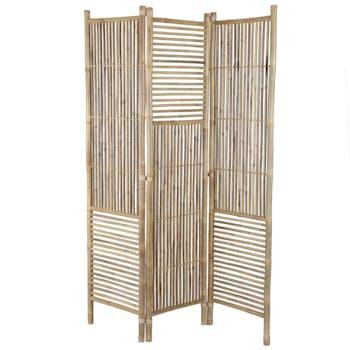 Paravent bambou naturel 3 volets 185 cm