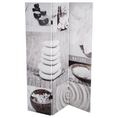Paravent décor Zen 3 volets 120x180cm