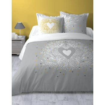 Parure de lit cœur romantique 2 personnes 260x240
