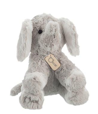 Peluche éléphant gris H22cm