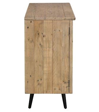 Petit buffet bois recyclé clair 1 porte SALERNE