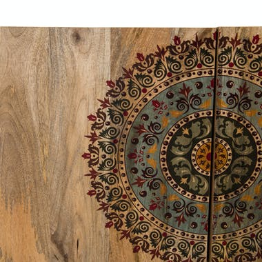 Petit buffet en bois de manguier de portes de style exotique