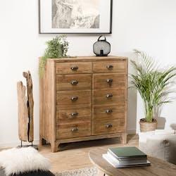 Petit meuble de rangement en bois de pin recyclé DENVER