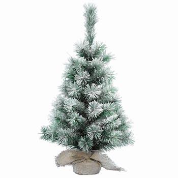Petit sapin de Noël enneigé 35 cm