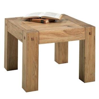 Table basse carree en bois de style campagne