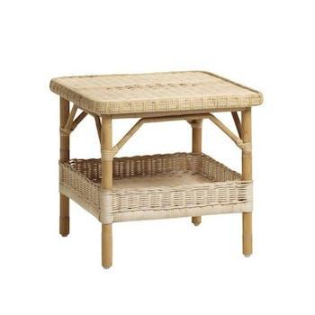 Petite table basse rotin naturel Nantucket KOK