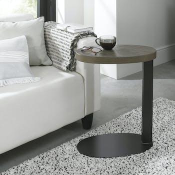 Petite table d'appoint en marqueterie de chêne ARLINGTON