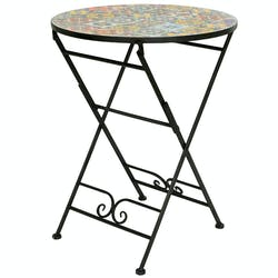 Petite table de jardin carreaux de ciment mix couleurs D60 GRENADE