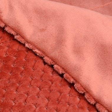 Plaid damien couleur marsala 130 x 170 cm