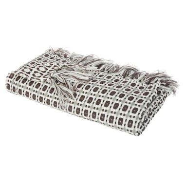 Plaid gris carreaux réf. 30022049