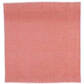 Plaid vieux rose coton bio 150 x 130 cm
